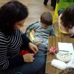 Клуб на родителя - Коледна работилничка - изработване на сурвачки